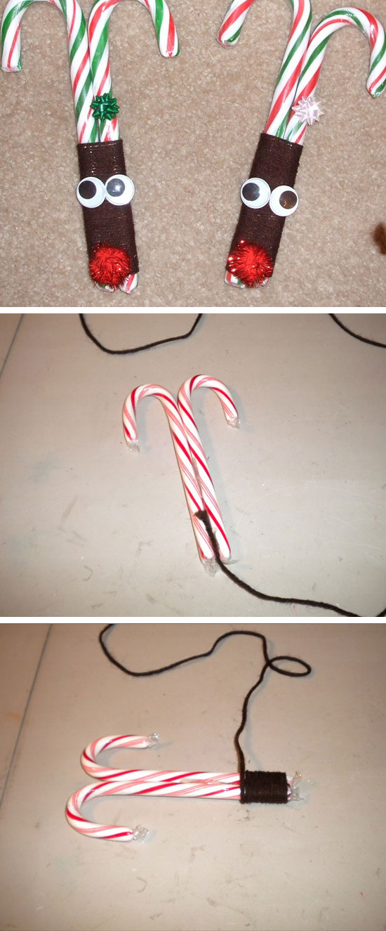 Reindeer Candy Canes.