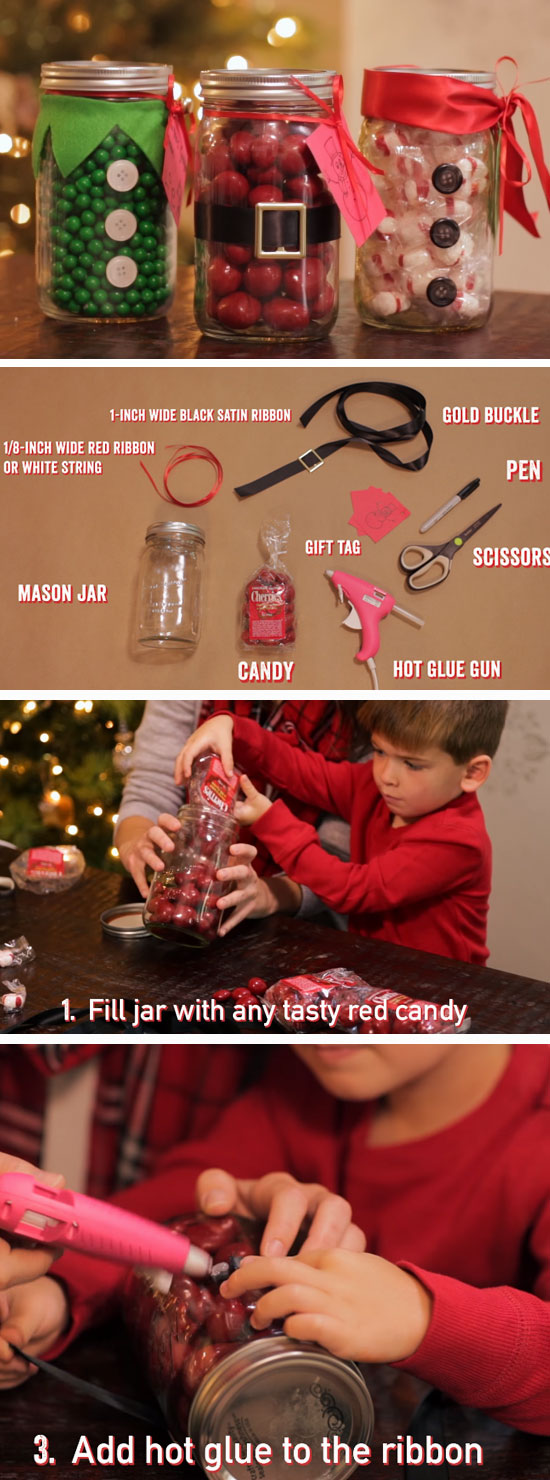 Santa Claus Mason Jar.