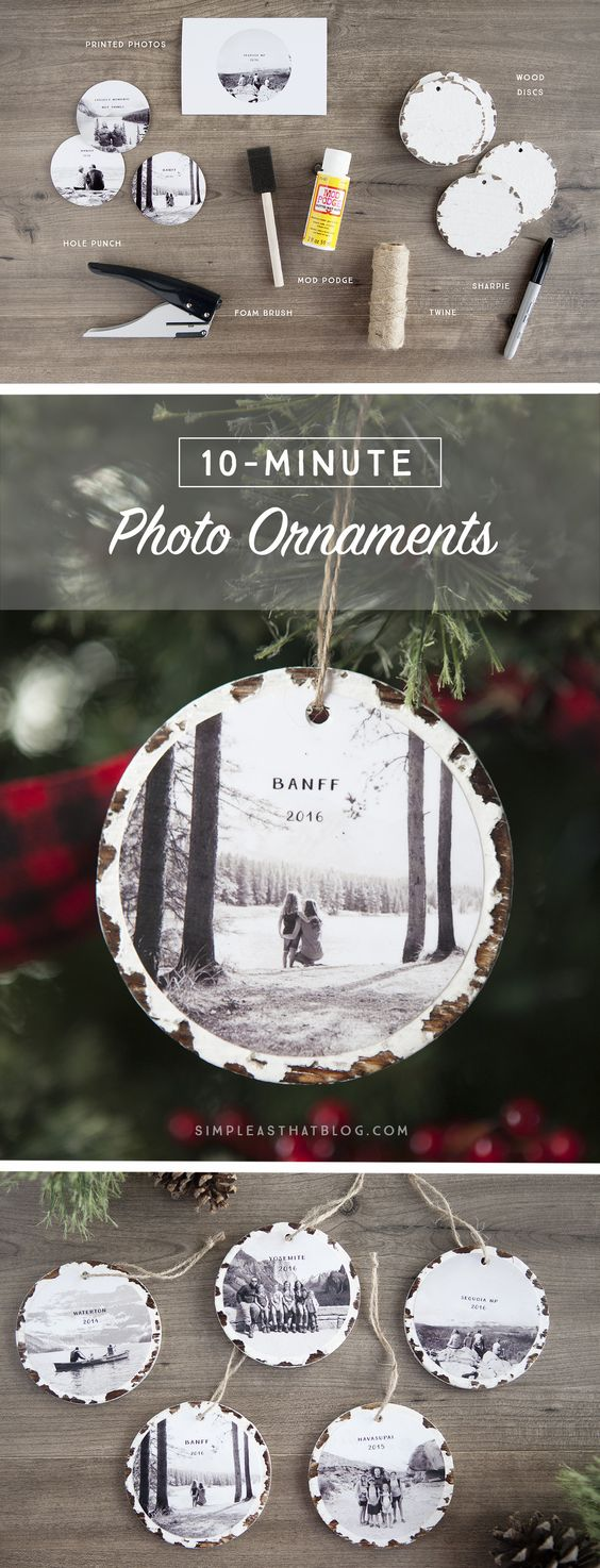 10 Minute Photo Keepsake Ornaments.