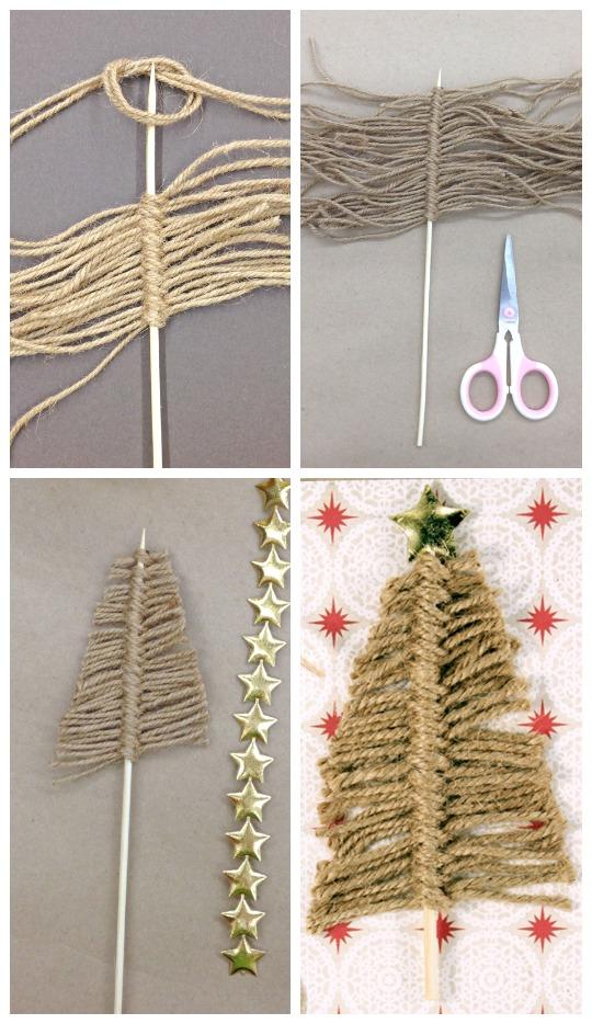 Twine Christmas Tree Card.