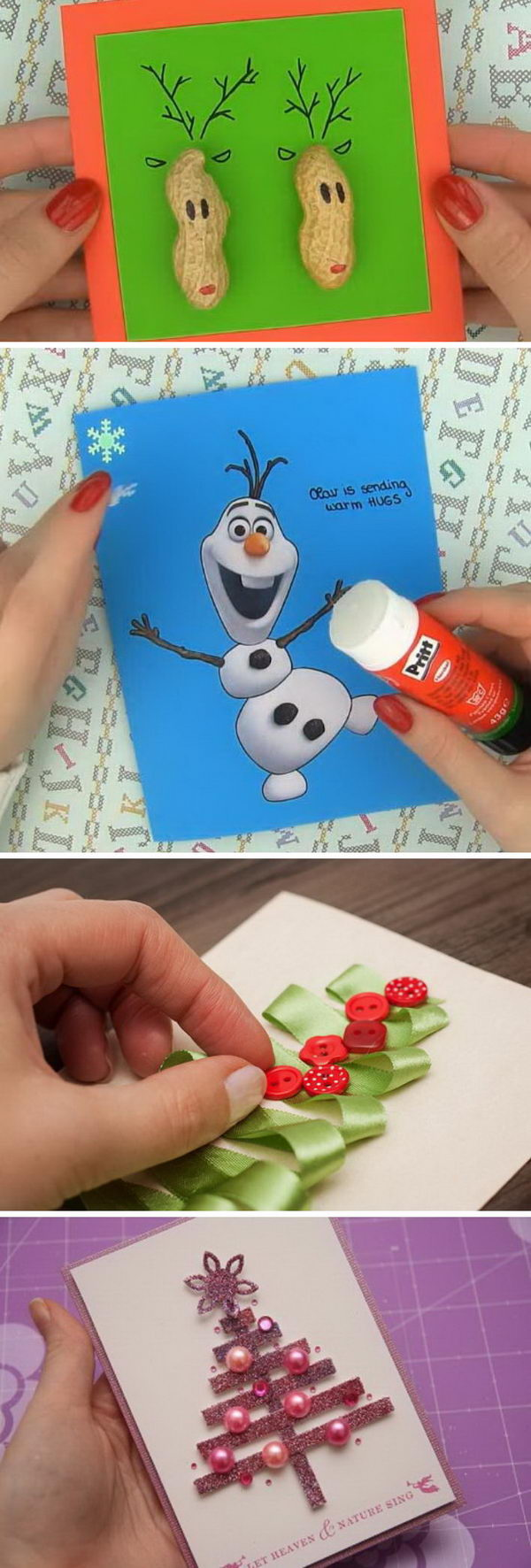 DIY Ideas and Tutorials to Create Your Very Own Christmas Card.