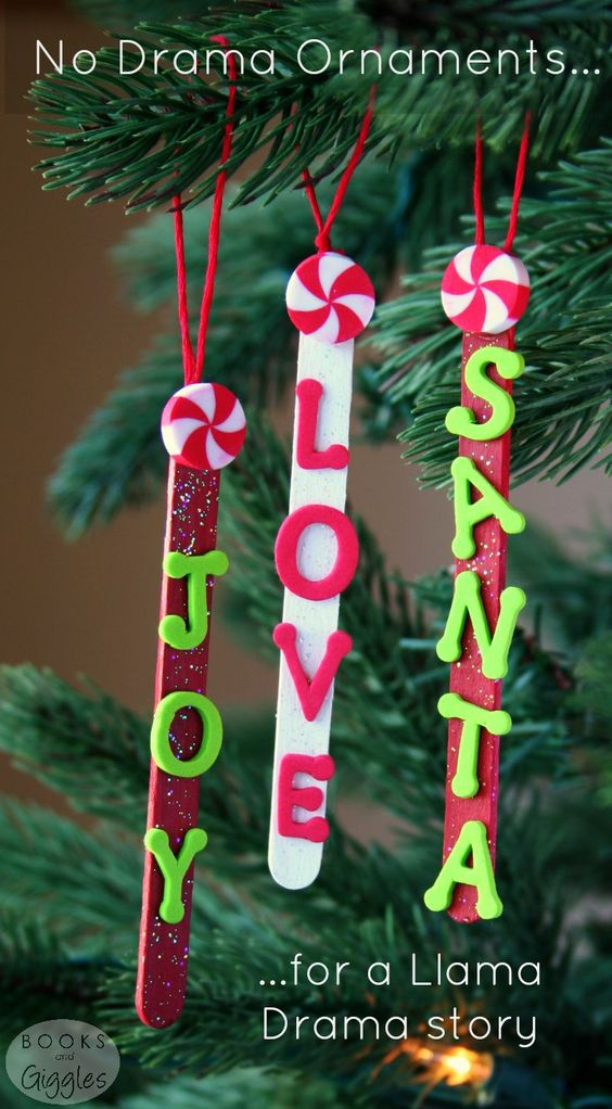 Easy Popsicle Stick Ornaments.