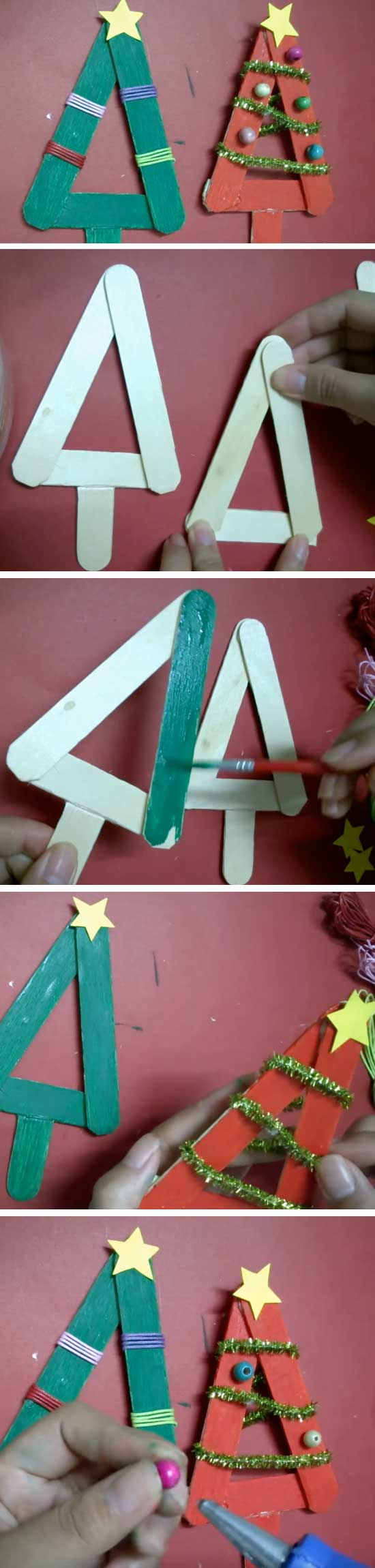 30 Diy Ideas And Tutorials To Recycle Popsicle Sticks For Christmas 2018