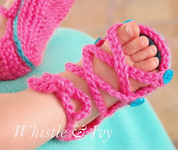 40+ Adorable Crochet Baby Sandals With Free Patterns 2019