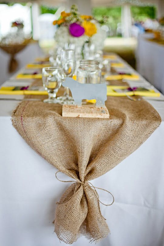Burlap Table Runner.