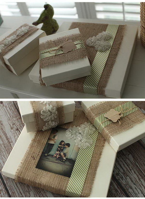 Burlap Gift Packaging.