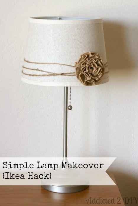 Burlap Lamp Shade.