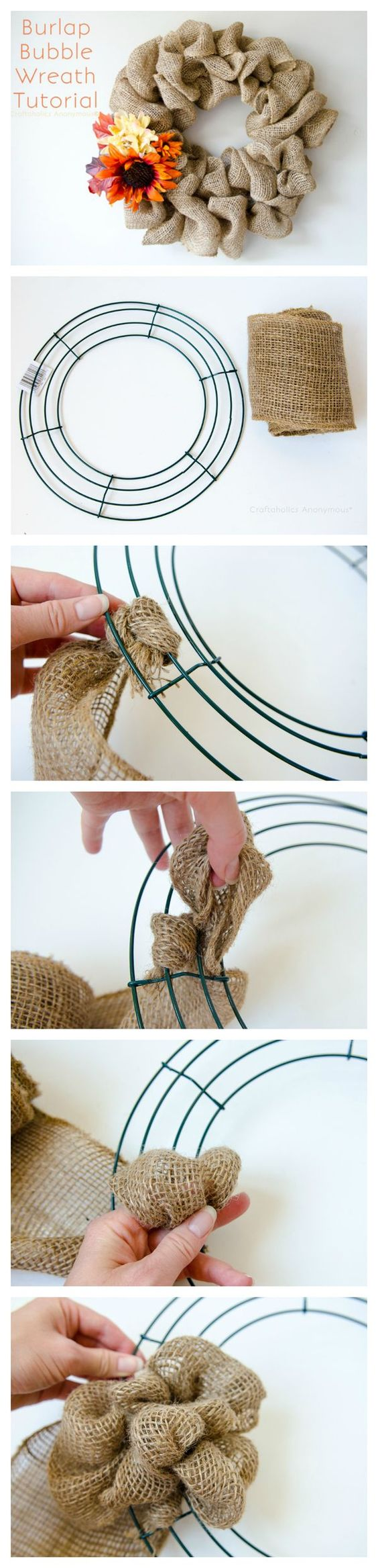 Burlap Bubble Wreath.