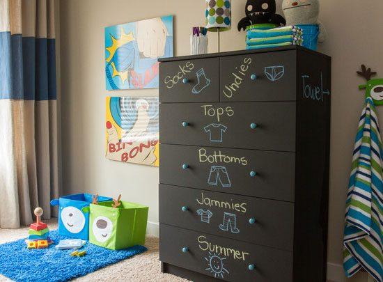 Organize A Kids Dresser.