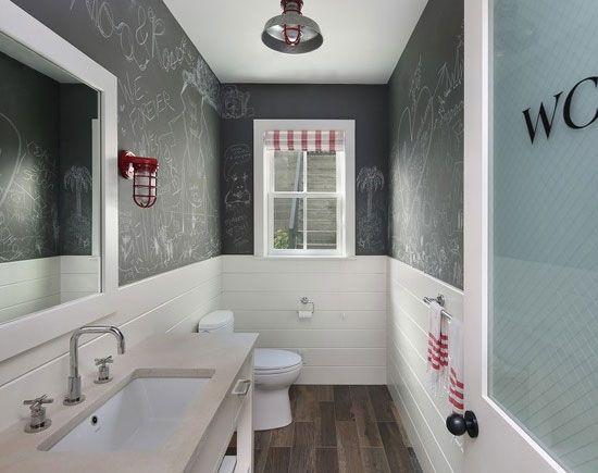 Budget Bathroom Decor Idea.