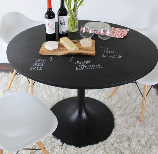 Make a Cheese & Wine Table With Chalkboard Paint.