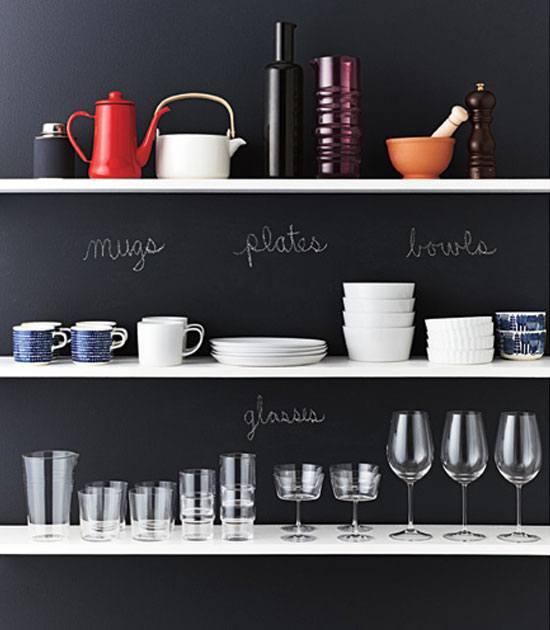Label Open Shelves.