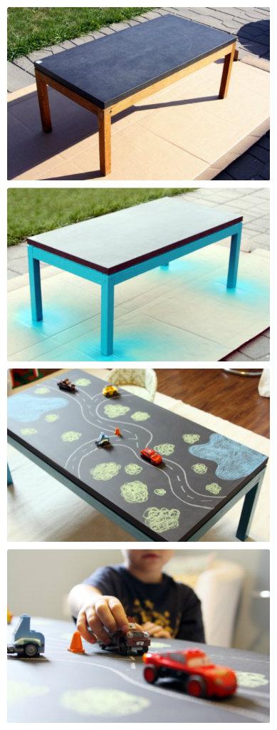 DIY Chalkboard Play Table.