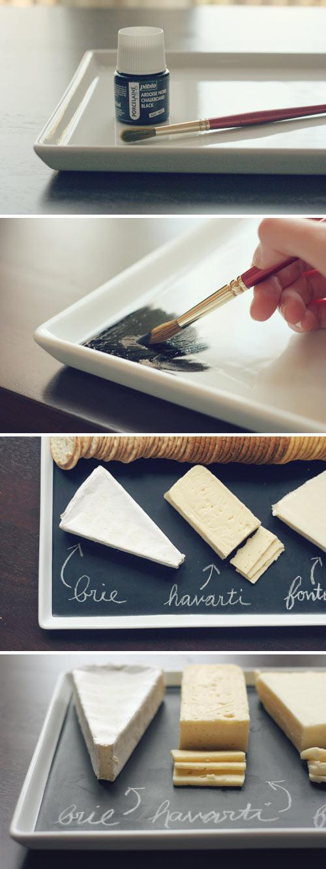 DIY Chalkboard Serving Platter.