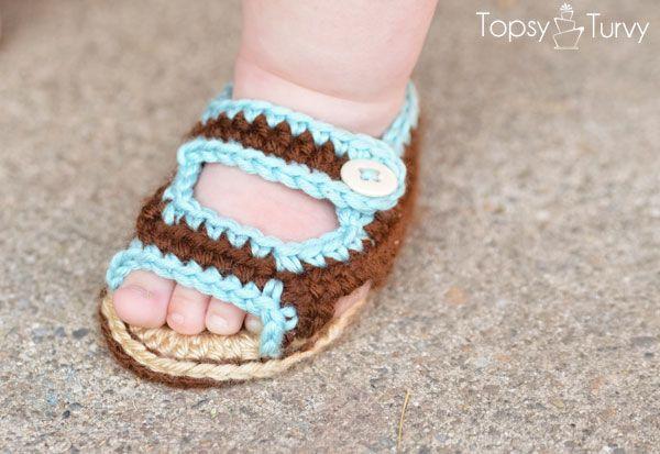 Crochet Baby Summer Sandals.