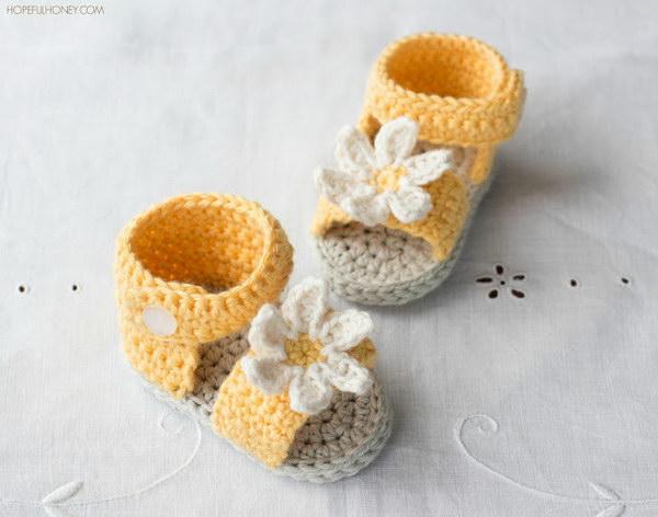 60 Adorable Crochet Baby Sandals With Free Patterns 60 Best Crochet Baby Sandals Pattern
