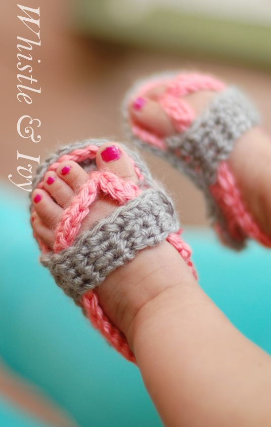 40 Adorable Crochet Baby Sandals With Free Patterns 2017
