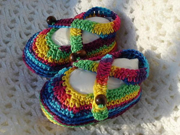 Baby Rainbow Sandals.