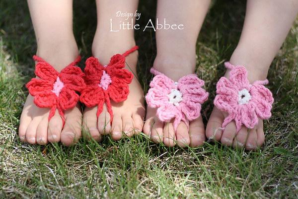 Toe Flower Sandals.