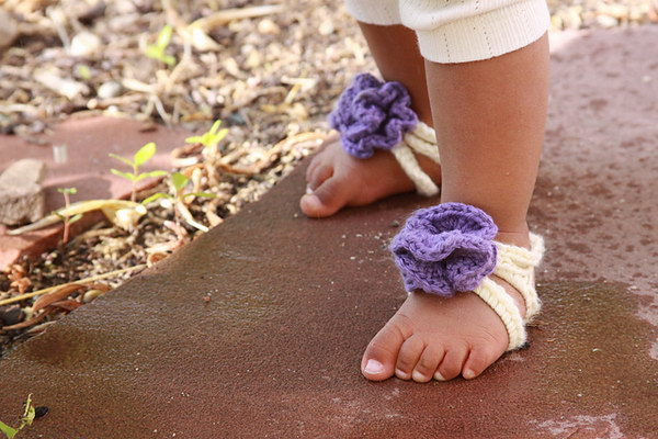 Baby Barefoot Strappy Sandals.