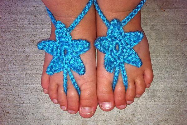 Baby Star Barefoot Sandals.