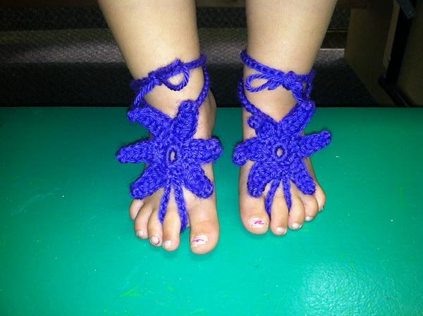 Baby Starfish Barefoot Sandals.