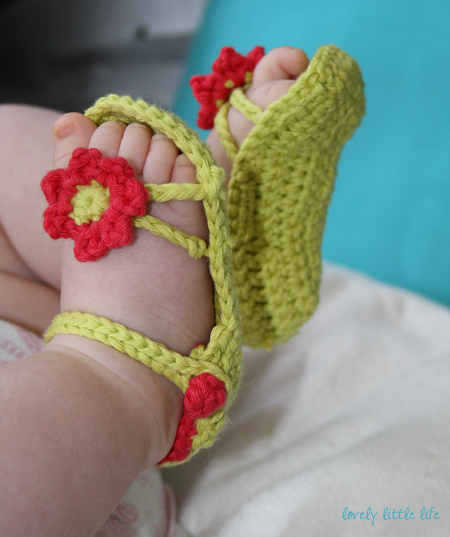 Flower Power Baby Sandals.