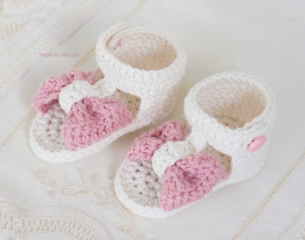 60 Adorable Crochet Baby Sandals With Free Patterns 60 Interesting Crochet Baby Sandals Pattern
