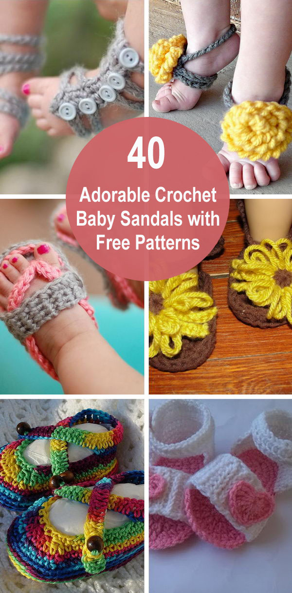 40+ Adorable Crochet Baby Sandals With Free Patterns.