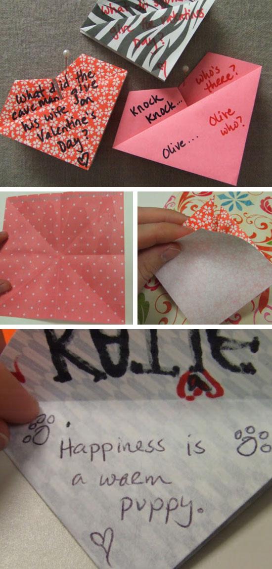 Heart & Joke Origami Tutorial.
