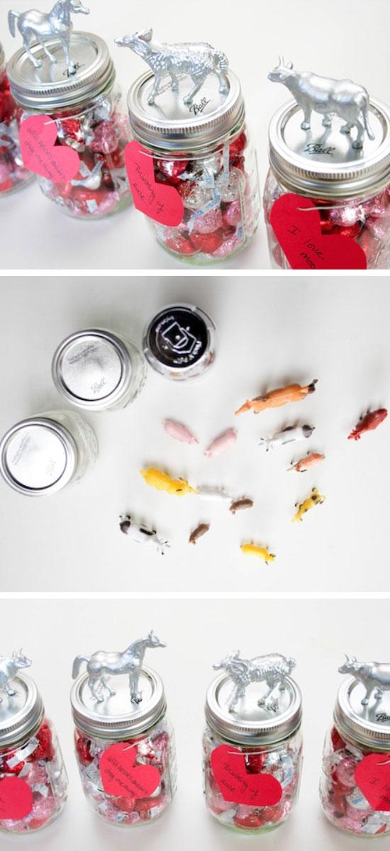 I Love Moo! Animal Jar Valentines.