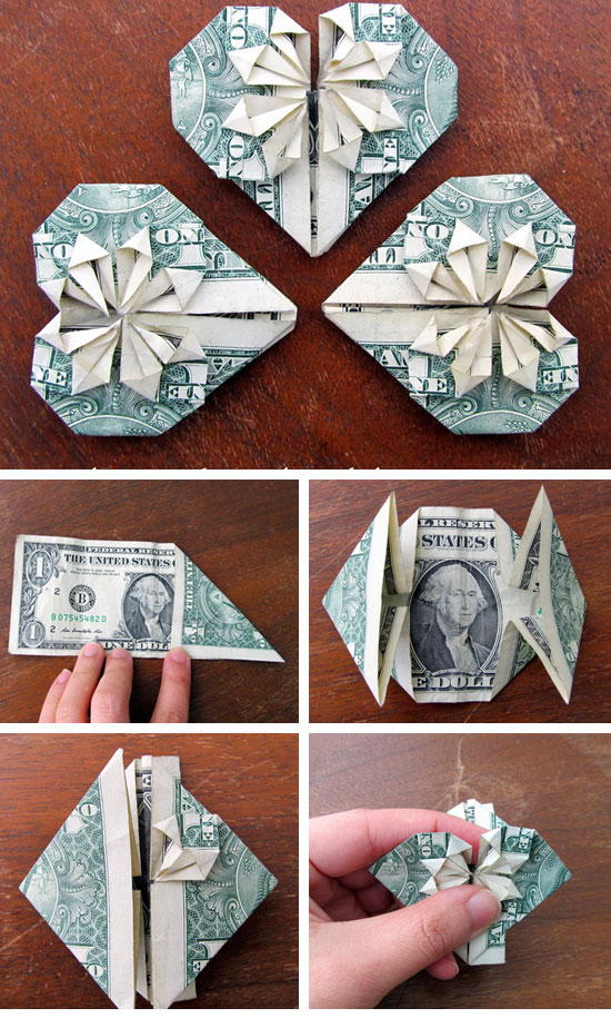 DIY Dollar Hearts.
