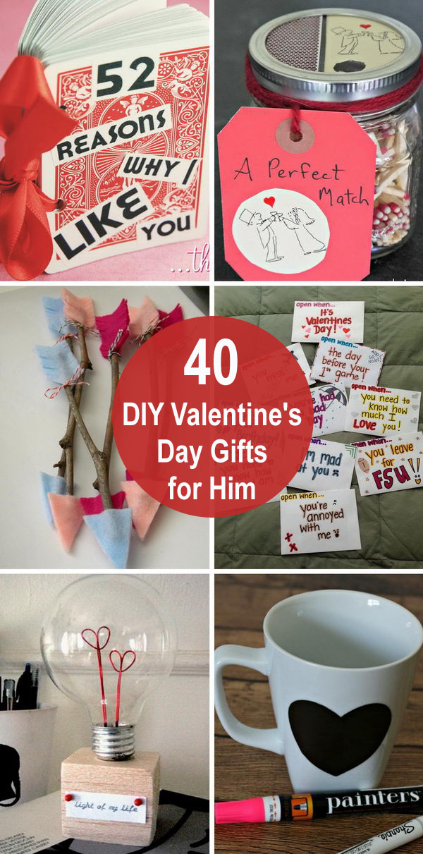 40 Diy Valentine S Day Gifts For Him 2018