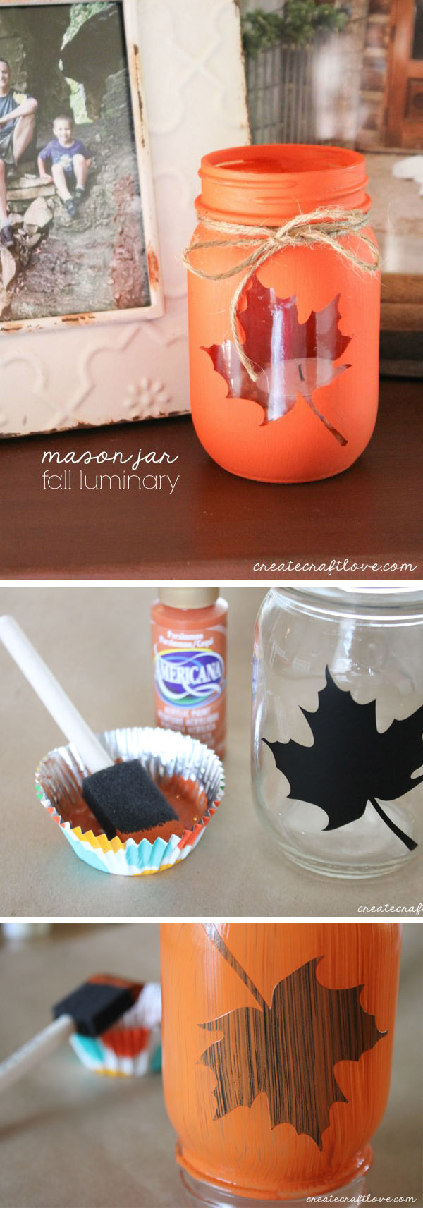Mason Jar Fall Luminary.