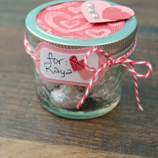 Treat Filled Love Jar.