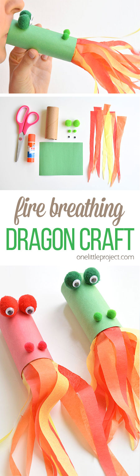 Paper Roll Dragon Craft.
