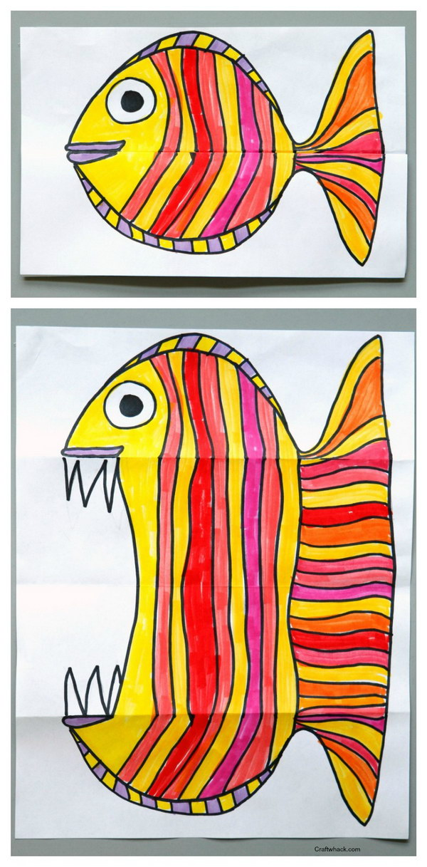 Surprise Ferocious Paper Fish Craft.