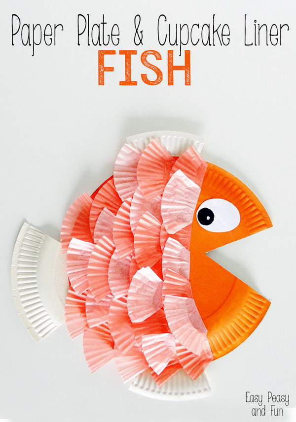 Paper Plate & Cupcake Liner Fish.