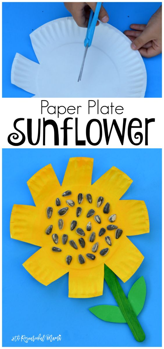 Paper Plate Sunflower Craft.