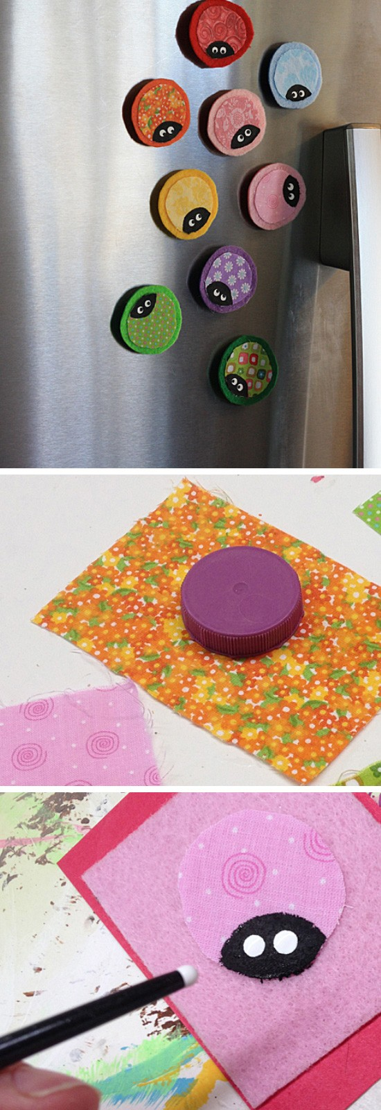 Ladybug Fridge Magnets.