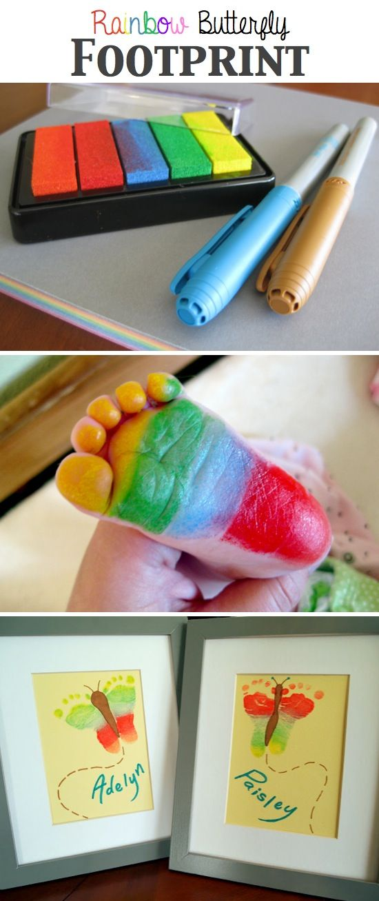 Rainbow Butterfly Footprints.