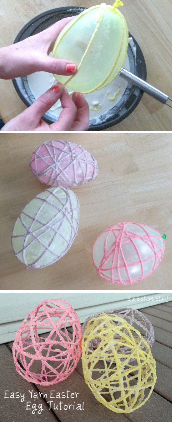 Easy Yarn Easter Egg.