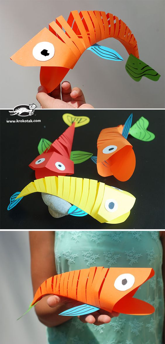 Amazing Paper Fish Crafts Which Move and are Flexible.
