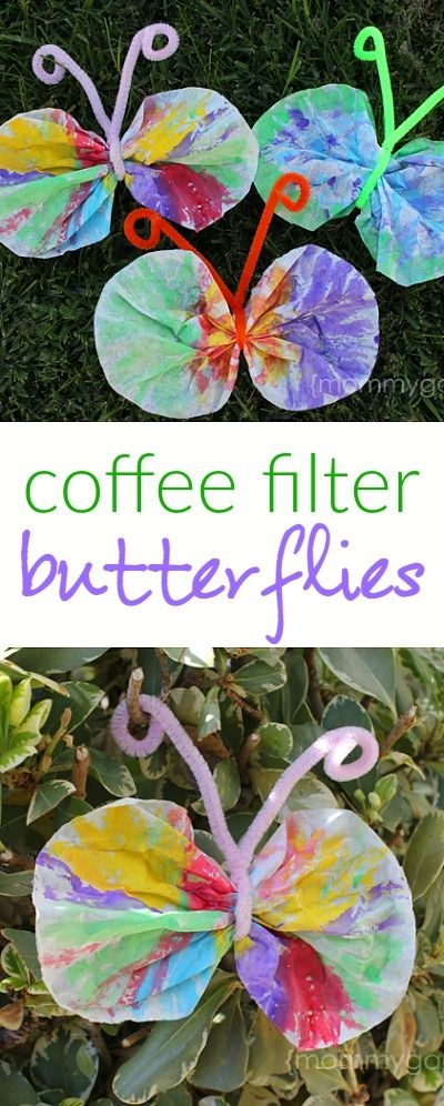 Coffee Filter Butterfly Craft.