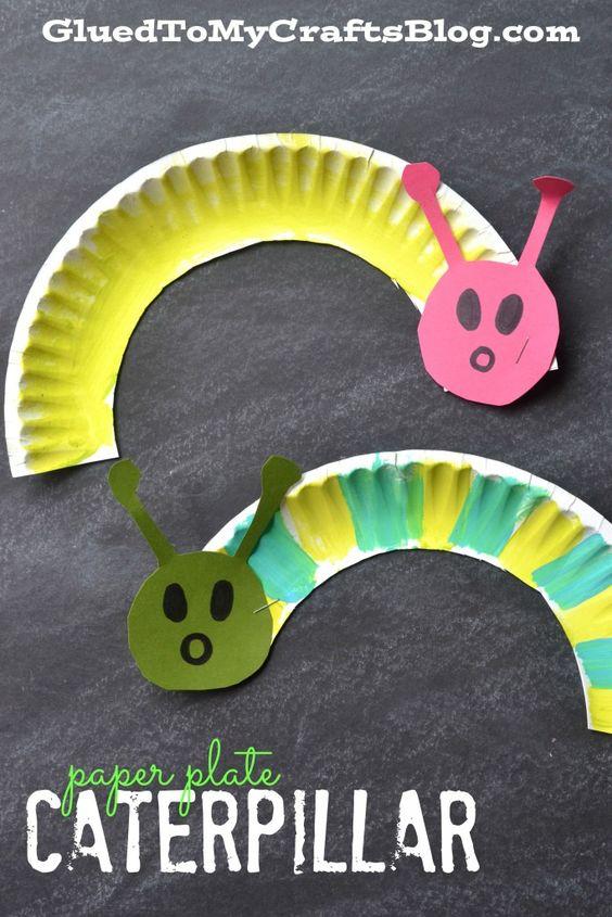 Paper Plate Caterpillar.