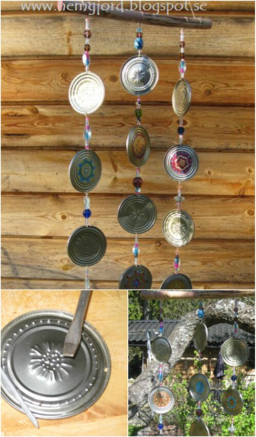 Tin Can Wind Chime.