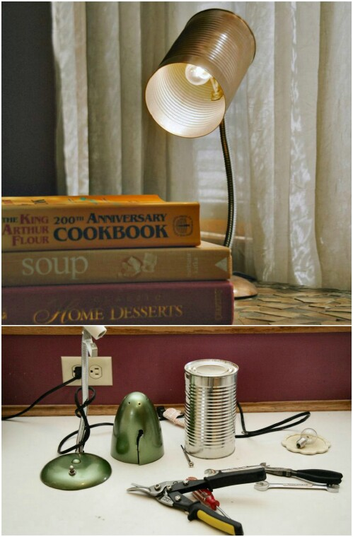 Real Working Tin Can Desk Lamp.