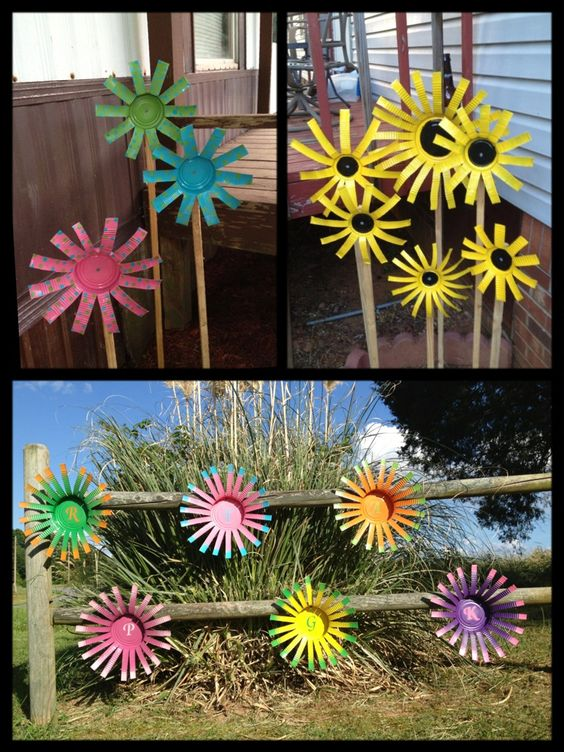Easy Tin Can Flowers.