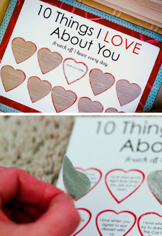 25 DIY Valentines Day Card Ideas Tutorials 2017 – Scratch off Valentine Card