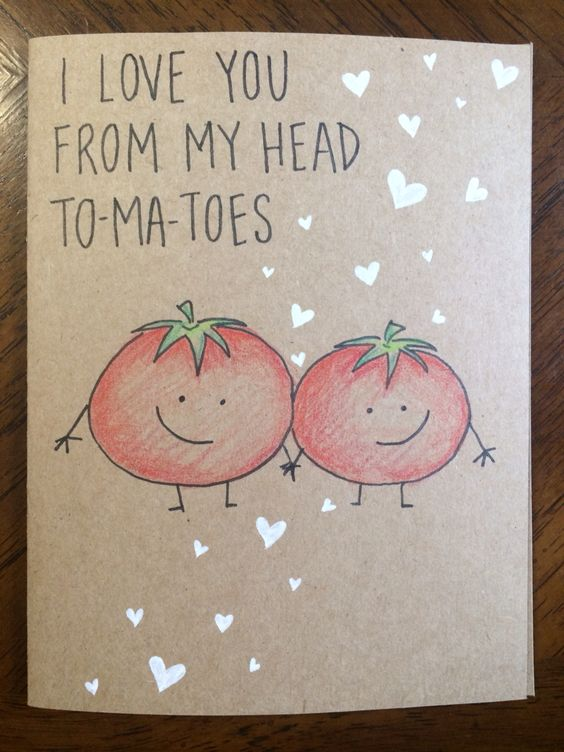I Love You From My Head To-Ma-Toes Card.